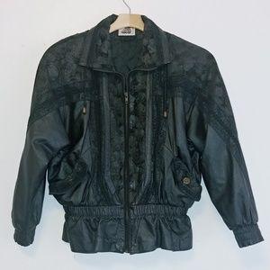 Vintage oversized leather jacket